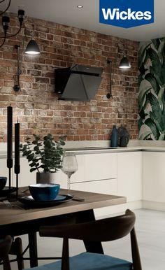 Super stylish kitchens from Wickes - inspiration for every home Kitchen Units, New Kitchen, Beautiful Kitchens, Cool Kitchens, Home Pub, Kitchen Gallery, Kitchen Upgrades, Interior Decorating, Interior Design