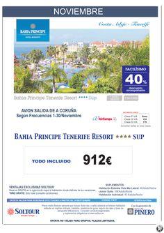Tenerife - 40% Dto.Acompañante - Bahía Príncipe Tenerife Resort, salidas desde A Coruña - Noviembre ultimo minuto - http://zocotours.com/tenerife-40-dto-acompanante-bahia-principe-tenerife-resort-salidas-desde-a-coruna-noviembre-ultimo-minuto/