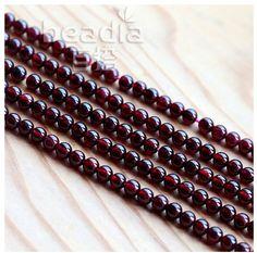 Free shipping Natural Garnet Round beads 3.8-5.4mm Round Stone Beads for bracelet DIY Making