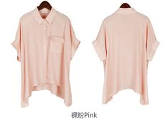 Women's Chiffon Blouses Ladies Office White Shirts Women Short Sleeve Loose Blouse Fashion Batwing Tops Pocket Blusas Body