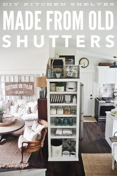 DIY kitchen shelves