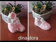 Sandale crosetate pentru fetite