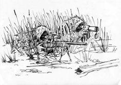 военные рисунки снайпер пес