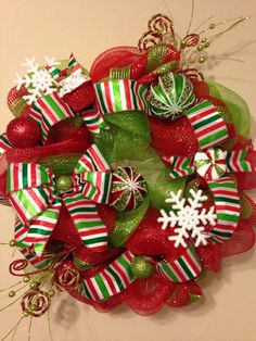 Christmas Wreath! Deco Mesh