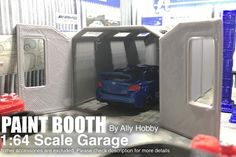 Paint Room / Booth Model Car/Slot Car Scale Garage Workshop 1:64 Custom S-Scale  | eBay