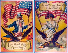 Vintage Holiday Postcards, Birthday Clipart, Vintage Birthday, Independence Day, Fourth Of July, Sparkle, Clip Art, Baseball Cards, Image