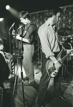 Ian Curtis and Peter Hook, Joy Division.