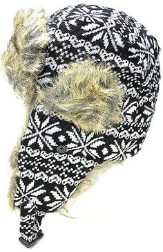Cozy wool earflap hats are a must have winter accessory. Features a white snowflake design and full lining for extra warmth. Sakas offers trendy designer inspired fashion at deep discounts! We work day and night to bring you high quality clothing and ac