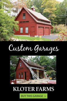 We can guide you through the steps to creating a beautiful structure with intentional design. We want you to be happy - from design to delivery. #kloterfarms #garage #2cargarage Shed Design, Garage Design, Custom Garages, Built In Storage, Indoor, Cabin, House Styles, Building, Interior