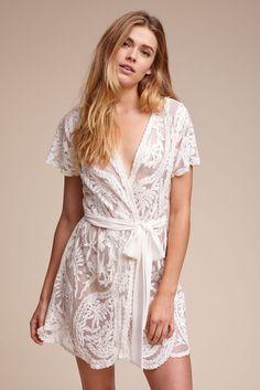 BHLDN Oleya Robe in  Bride Bridal Lingerie Lingerie Sets | BHLDN
