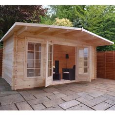 Garden Sheds 5m X 3m avon 5m x 3m somerset corner log cabin - right sided -http://www