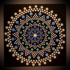 30 x 30 cm. Acrylic Painting Canvas, Etsy Seller, Dots, Hand Painted, Creative, Design, Mandalas, The Dot, Design Comics