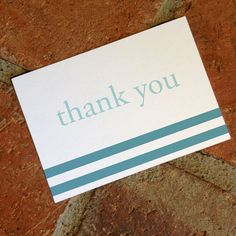 Printable Thank You Card Waves Wedding by FiraPrintables on Etsy