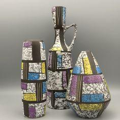 """Bay ,,Paris"""" Designer: Bodo Mans in the 1950s Midcentury design WGP ceramics."""