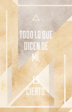 Todo lo que dicen de mí by Ramiro Baldivieso, via Behance