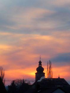 Sonnenaufgang in Forchheim am 13.01.2013.  Weitere Reiseziele: http://reiseziele.com
