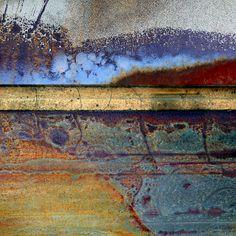 Air, Water ~ San Juan Mist by LuAnn Ostergaard Arte Yin Yang, Peeling Paint, Contemporary Abstract Art, Encaustic Painting, Painting Art, Textures Patterns, Mixed Media Art, Painting Inspiration, Printmaking
