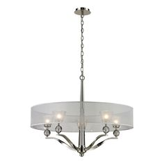ELK Lighting 31292/5 Corisande Polished Nickel 5 Light Chandelier On Sale Now. Guaranteed Low Prices. Call Today (877)-237-9098.
