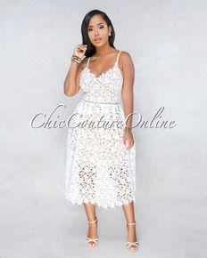 01f845c447e Sabrine White Red Stripes Ruffle High Low Dress | the joy of ...