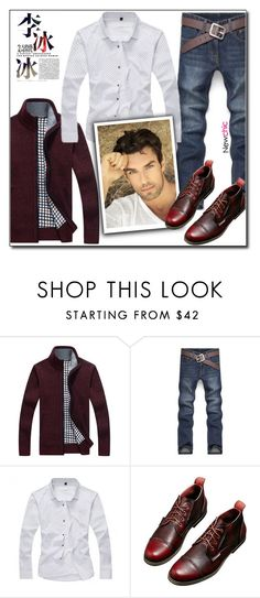 """NewChic Style (18/II)"" by dorinela-hamamci ❤ liked on Polyvore featuring men's fashion and menswear"