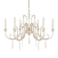 Capital Lighting 413661 Cambridge 6 Light 1 Tier Chandelier Winter Gold Indoor Lighting Chandeliers