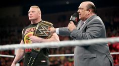 Paul Heyman addresses the rumors about Brock Lesnar's WWE future: Roman Reins Will Loose At Wrestlemania . Brock Will Never Give Up His Belt... 3-9-2015 RAW