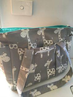 Giraffe Nappy Bag New Large Sizer XL Diaper Bag by MishmashDesigns