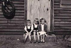 Wies and Zen Rogalski and friend Hania, at Tweedsmuir Camp, (SHC ref courtesy ofThe Tweedsmuir Project) Surrey, Great Britain, 1950s, Zen, England, Polish, Community, History, Vitreous Enamel