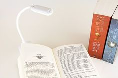 A clip-on reading light (with three brightness levels) that'll come in handy…
