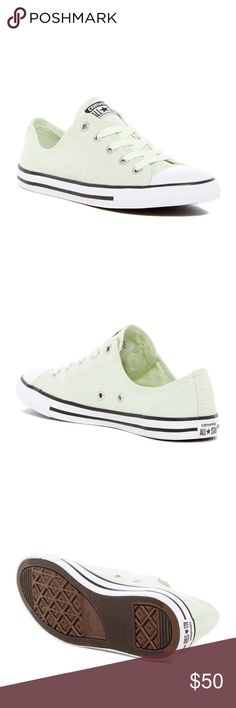 NWT converse all star dainty oxford sneakers Cute sneakers in pistachio green Converse Shoes Sneakers
