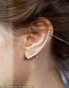 Clip-on Diamond Ear Cuff - As worn by Emma Watson at the Noah premier