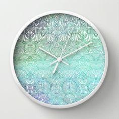 Up In The Sky Wall Clock by Pom Graphic Design  - $30.00 #walldecor #clock #wallclock #decor #decorideas #home #forthehome #decorinspiration #giftideas #clouds
