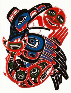 Endless Desire by Yukie Adams Native American Totem, Native American Symbols, Native American Design, Haida Kunst, Haida Art, Arte Tribal, Tribal Art, Tatouage Haida, Haida Tattoo
