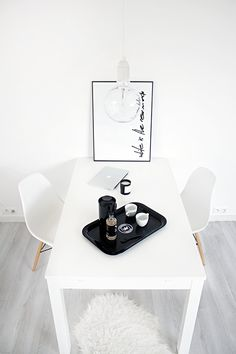 #dining #interior #eames #white #scandinavian #style