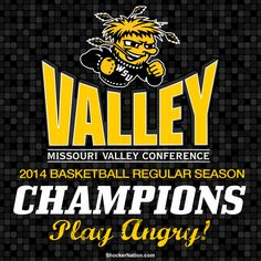 MVC regular season CHAMPIONS and still undefeated!!! 29-0 #BringGamedayToWichita Wsu Shockers, Missouri Valley, Ncaa Final Four, Wichita State, Ncaa Tournament, Basketball Teams, State University, Conference, Champion