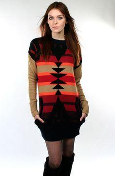 Navajo sweater dress