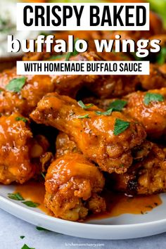 Baked Buffalo Wings Baked Buffalo Wings with a homemade buffalo sauce! These wings are crispy outside and a tender and juicy meat inside.Baked Buffalo Wings with a homemade buffalo sauce! These wings are crispy outside and a tender and juicy meat inside. Chicken Wing Sauces, Chicken Wing Recipes, Thai Chicken, Easy Homemade Buffalo Sauce, Homemade Sauce, Baked Buffalo Wings, Buffalo Wing Sauces, Buffalo Chicken, Crispy Buffalo Wings Recipe