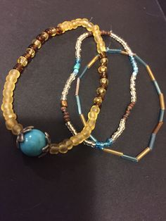 Just made this. I love it! Bead bracelets.
