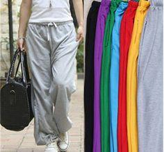 6.65 euro incl shipping Free Shipping Hot Sale Fashion Women's Cotton Sports Pants, Hip Hop Dancer/Yoga Candy Color Sweatpants Hip-Hop Pants