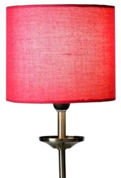 Briony Pink Small Fabric Drum Shade, 0000005267095