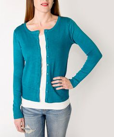 Loving this Teal Button-Up Cardigan - Women & Plus on #zulily! #zulilyfinds