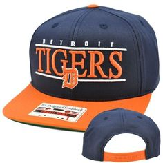MLB American Needle Nineties Twill Detroit Tigers Hat Cap Snapback Flat Bill