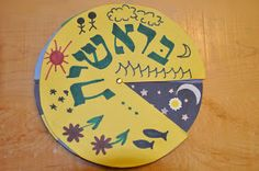 Bereshit: wheel of creation  Site has crafts for all parshas  #parsha, #jewishcraft