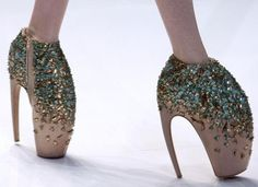 Alexander McQueen Heels, never in a million years, but would love to see them on someone I dislike.