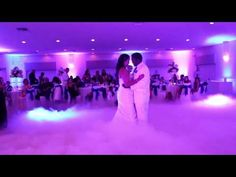 Access DJs - wedding first dance with low fog aka low-lying fog - YouTube