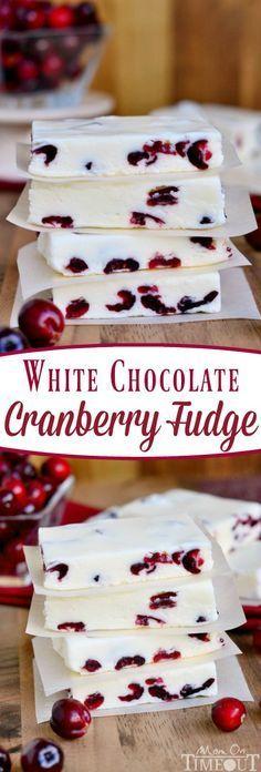 White Chocolate Cranberry Fudge | CUCINA DE YUNG