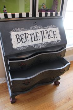 Tim Burton's Beetlejuice Inspired Cabinet - Unique - Lay-away available on Etsy, $2,500.00