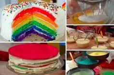 La recette aussi belle que bonne du rainbow cake