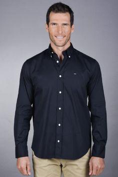 Denim Button Up, Button Up Shirts, Eden Park, Parka, Polo Shirt, Menswear, Shirt Dress, Navy, Classic