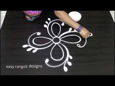 Kolam or muggu is a ancient art form of India which is very popular. Kolam is also called as Rangoli in parts of India. women create different kolam or rango. Indian Rangoli Designs, Rangoli Designs With Dots, Rangoli With Dots, Kolam Designs, Art Forms Of India, Free Hand Rangoli Design, Muggulu Design, Simple Rangoli, Ancient Art
